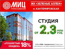 «Пушистые скидки» 18% в ЖК «Зелёные аллеи» Метро Кантемировская — 15 минут. Спешите
